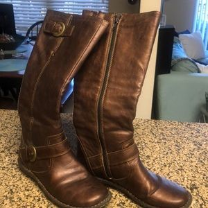 Flat sole boots bronze tinted